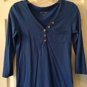 Blue 3/4 sleeve Tshirt